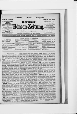 Berliner Börsen-Zeitung vom 16.07.1894