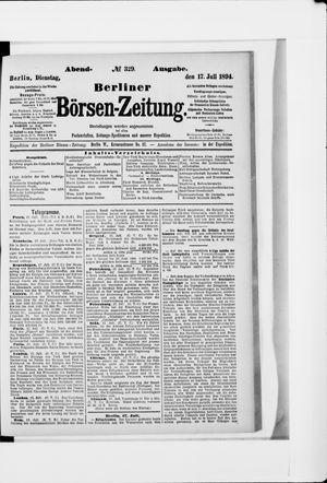 Berliner Börsen-Zeitung vom 17.07.1894