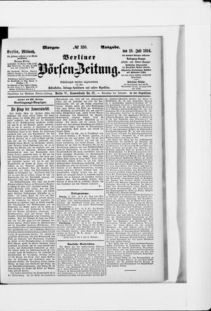 Berliner Börsen-Zeitung vom 18.07.1894