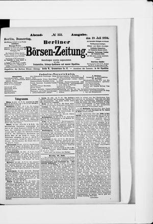 Berliner Börsen-Zeitung vom 19.07.1894