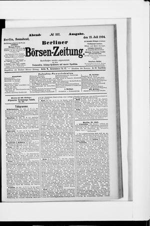 Berliner Börsen-Zeitung vom 21.07.1894
