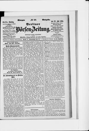 Berliner Börsen-Zeitung vom 22.07.1894