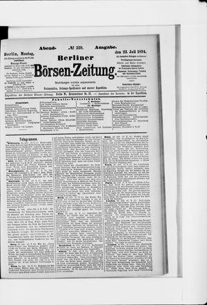 Berliner Börsen-Zeitung vom 23.07.1894