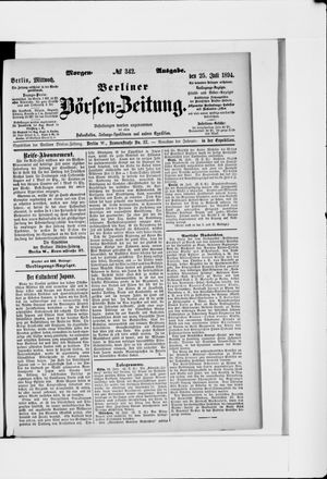 Berliner Börsen-Zeitung vom 25.07.1894