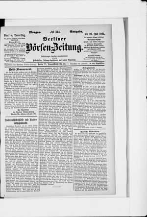 Berliner Börsen-Zeitung vom 26.07.1894