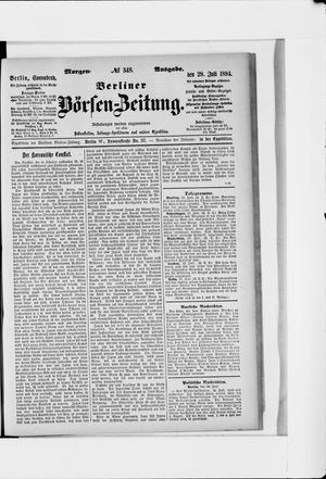 Berliner Börsen-Zeitung vom 28.07.1894