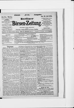 Berliner Börsen-Zeitung vom 30.07.1894