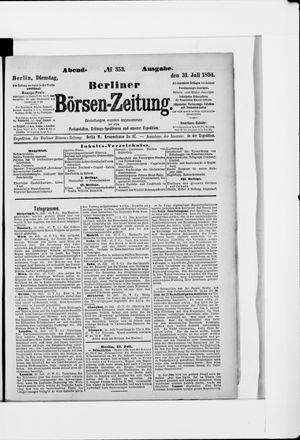 Berliner Börsen-Zeitung vom 31.07.1894