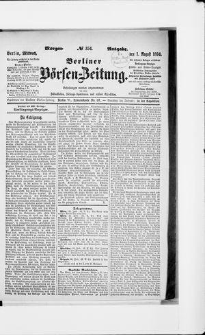 Berliner Börsen-Zeitung vom 01.08.1894