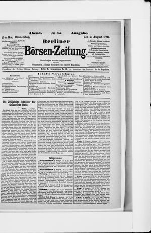 Berliner Börsen-Zeitung vom 02.08.1894