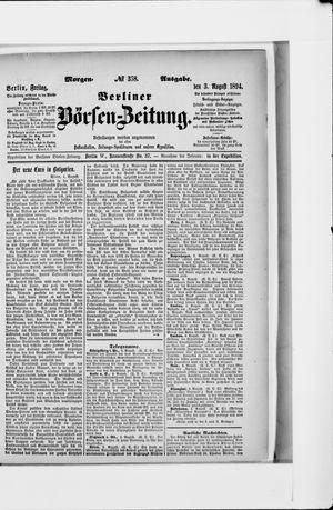 Berliner Börsen-Zeitung vom 03.08.1894