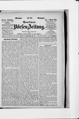 Berliner Börsen-Zeitung vom 04.08.1894