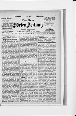 Berliner Börsen-Zeitung vom 05.08.1894