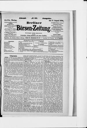 Berliner Börsen-Zeitung vom 06.08.1894