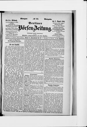 Berliner Börsen-Zeitung vom 08.08.1894