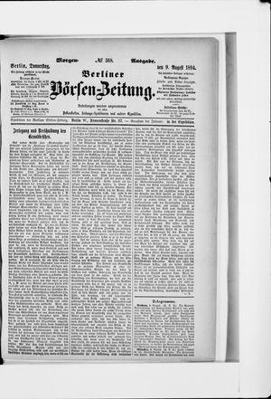 Berliner Börsen-Zeitung vom 09.08.1894