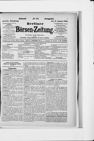 Berliner Börsen-Zeitung vom 11.08.1894