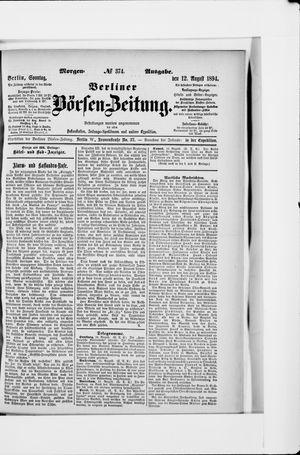 Berliner Börsen-Zeitung vom 12.08.1894