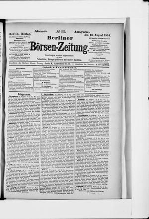 Berliner Börsen-Zeitung vom 13.08.1894