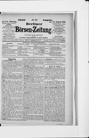 Berliner Börsen-Zeitung vom 14.08.1894