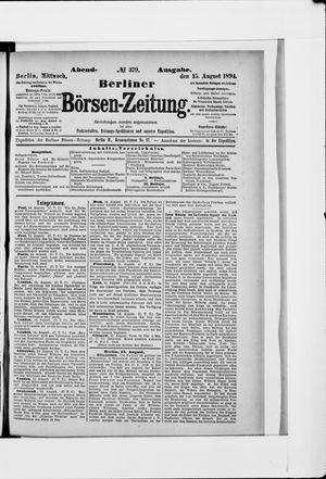 Berliner Börsen-Zeitung vom 15.08.1894