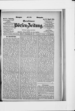 Berliner Börsen-Zeitung vom 16.08.1894