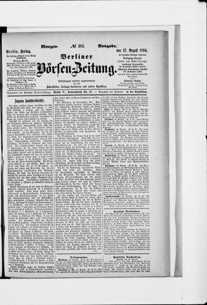 Berliner Börsen-Zeitung vom 17.08.1894
