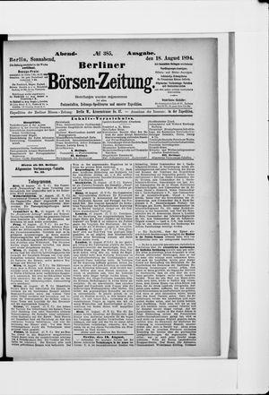 Berliner Börsen-Zeitung vom 18.08.1894