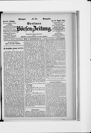 Berliner Börsen-Zeitung vom 19.08.1894