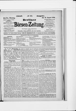 Berliner Börsen-Zeitung vom 21.08.1894