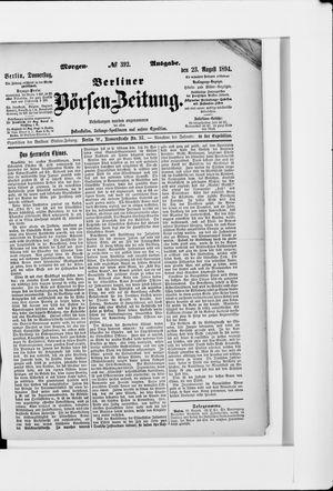 Berliner Börsen-Zeitung vom 23.08.1894