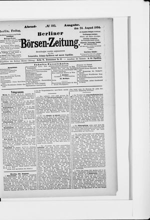 Berliner Börsen-Zeitung vom 24.08.1894