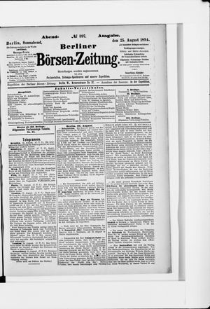 Berliner Börsen-Zeitung vom 25.08.1894