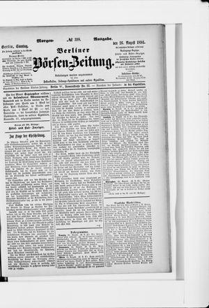 Berliner Börsen-Zeitung vom 26.08.1894