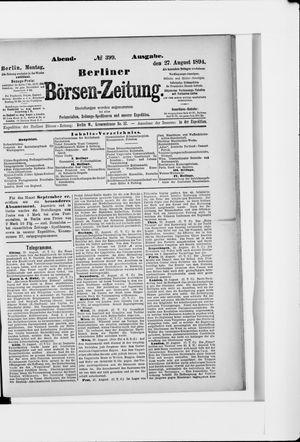 Berliner Börsen-Zeitung vom 27.08.1894