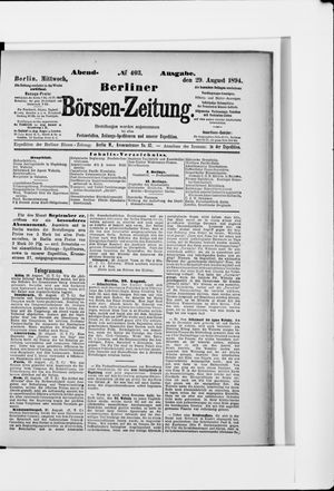 Berliner Börsen-Zeitung vom 29.08.1894