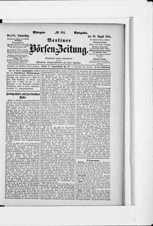 Berliner Börsen-Zeitung vom 30.08.1894