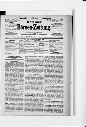 Berliner Börsen-Zeitung vom 01.09.1894