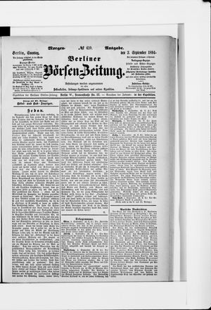 Berliner Börsen-Zeitung vom 02.09.1894