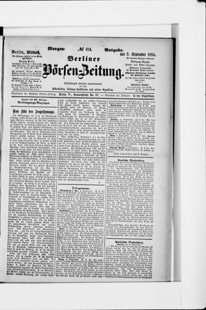 Berliner Börsen-Zeitung vom 05.09.1894