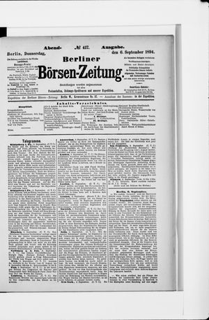 Berliner Börsen-Zeitung vom 06.09.1894