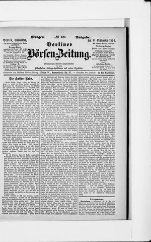 Berliner Börsen-Zeitung vom 08.09.1894
