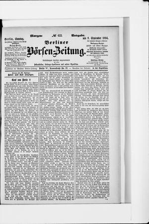 Berliner Börsen-Zeitung vom 09.09.1894