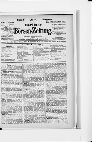 Berliner Börsen-Zeitung vom 10.09.1894
