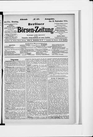 Berliner Börsen-Zeitung vom 11.09.1894