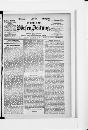 Berliner Börsen-Zeitung vom 12.09.1894
