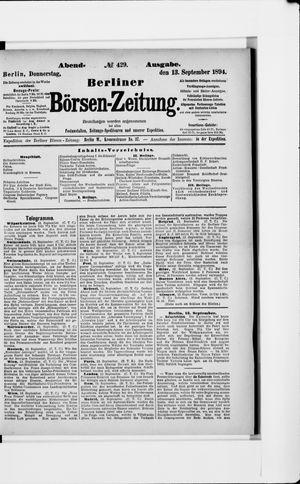 Berliner Börsen-Zeitung vom 13.09.1894