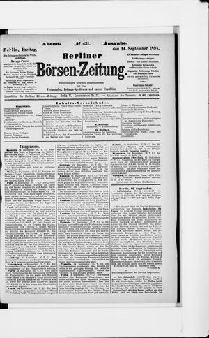 Berliner Börsen-Zeitung vom 14.09.1894