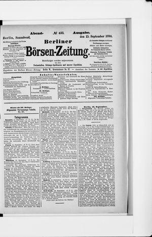 Berliner Börsen-Zeitung vom 15.09.1894