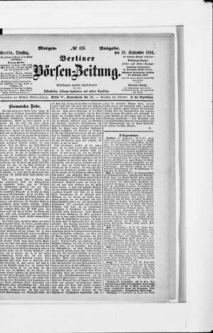 Berliner Börsen-Zeitung vom 18.09.1894